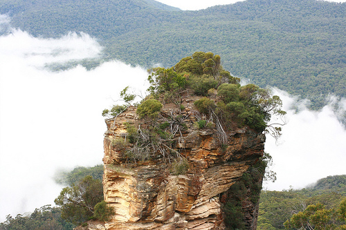 Orphan rock, the blue mountains