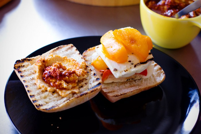 Grilled Eggplant And Roasted Red Pepper Sandwich With Halloumi Recipes ...